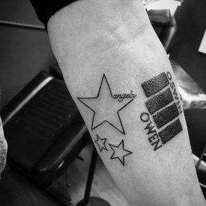 tatuaje de estrellas