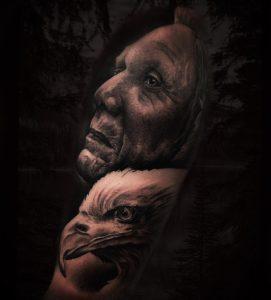 tatuaje de indio americano