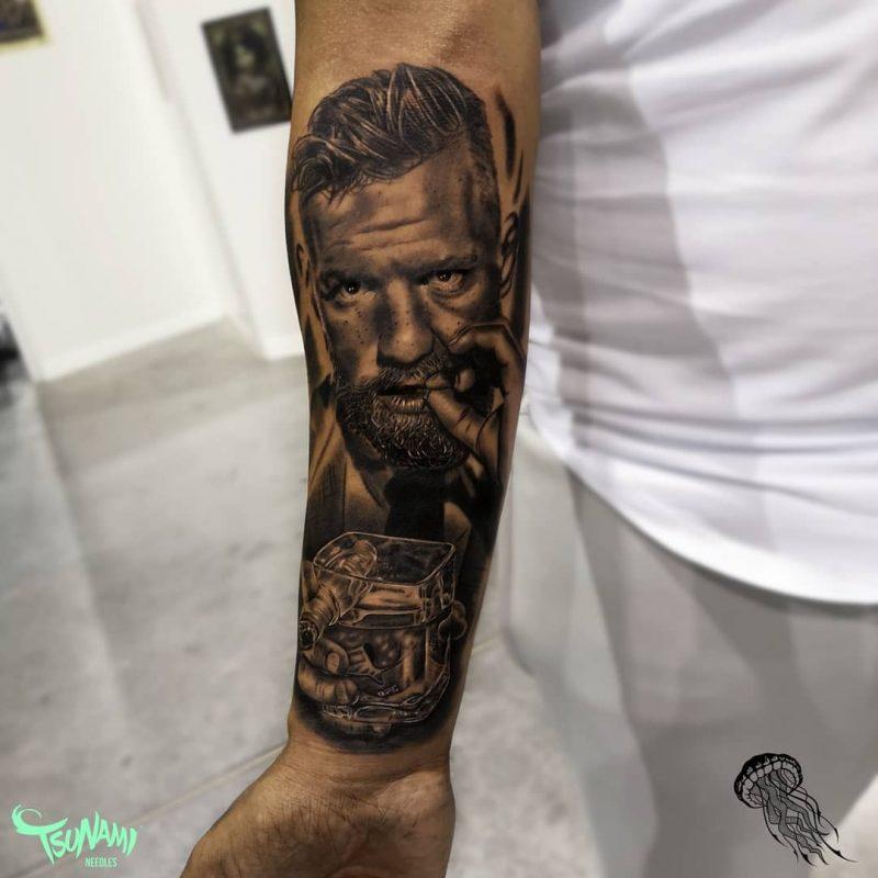 𝕷𝖑𝖔𝖗𝖊𝖓𝖙𝖊 𝖋𝖊𝖇𝖗𝖊𝖗𝖔 2019.10.15 1 Of 2 THENOTORIUS Pieza Que Realice De @thenotoriousmma En La @jereztattooconvention 800x800, Los Mejores Tatuajes