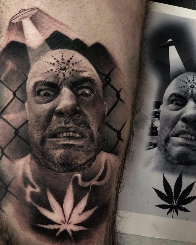 Tatuaje Joe Rogan (Comentarista UFC)