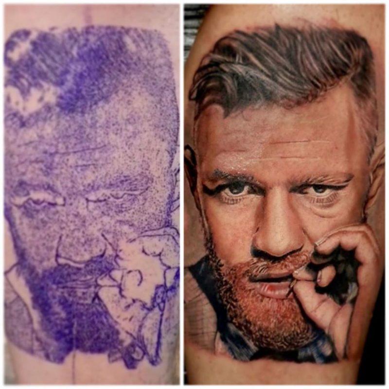 Tatuaje realista en color de Conor