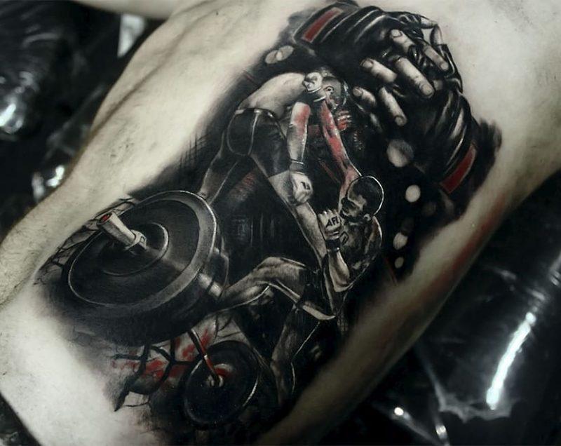 Tatuaje de peleadores AFL