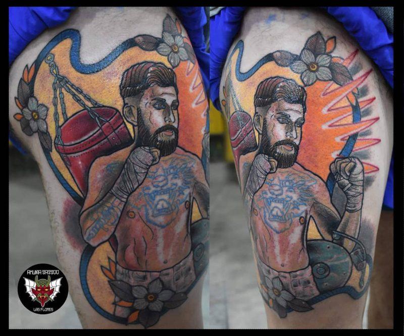 Martín Suarez Lerra 2019.03.20 Mmafighter Boxing Boxingtraining Mmatattoo Boxingtattoo Tattoos Tattoo B 800x666, Los Mejores Tatuajes
