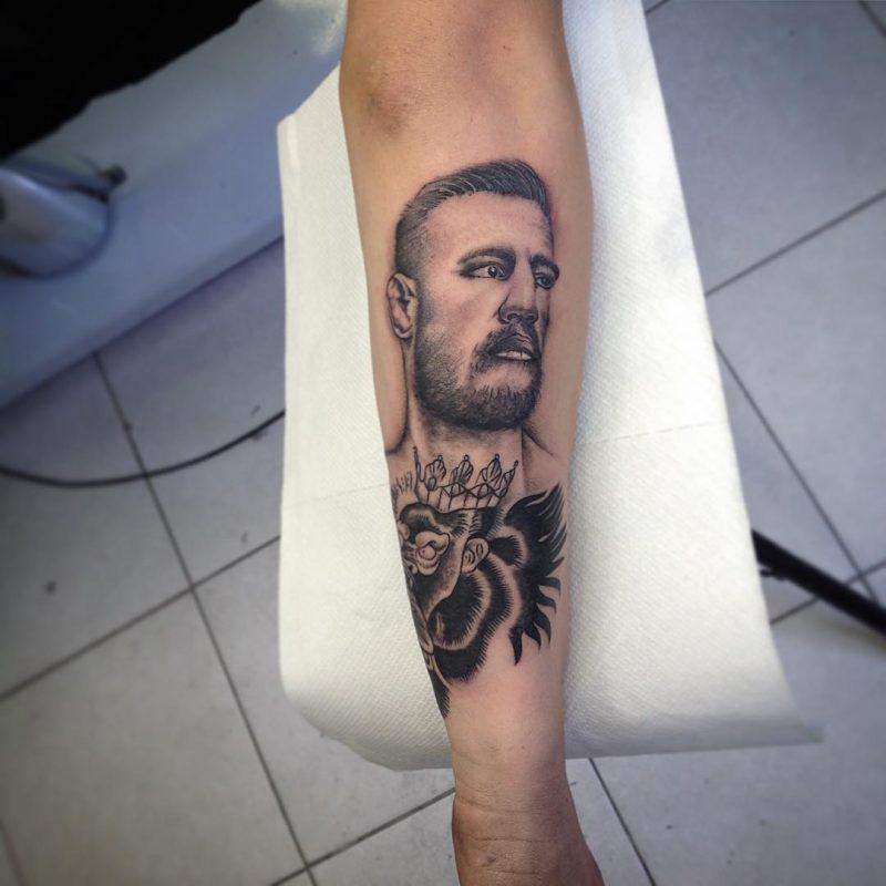 PeeMtAtTOo 2019.06.28 Conormcgregor Tattoo Tattoos Portraittattoo Art Myart Armtattoo Facetatt 800x800, Los Mejores Tatuajes
