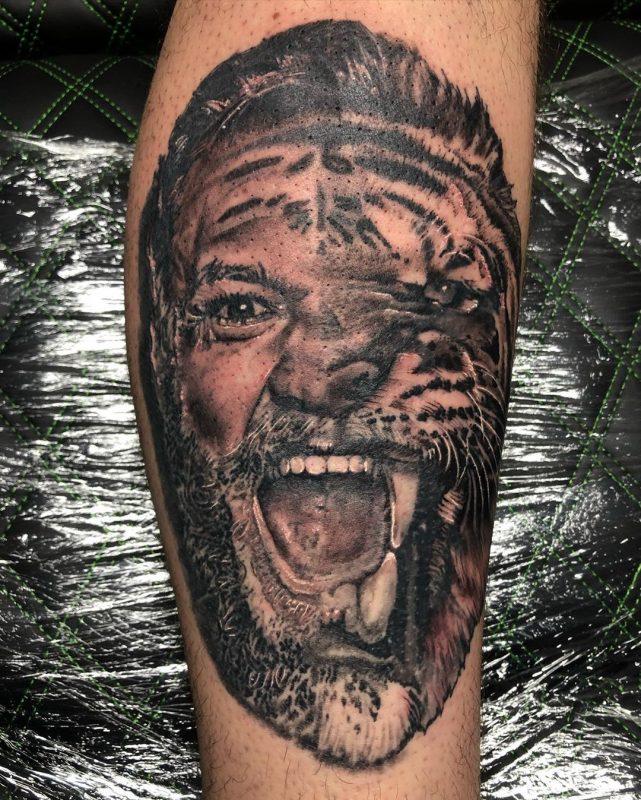 Scott Don 2019.10.25 3 Of 3 Notorious Champ Champ... Conor McGregor Spirit Animal Swipe For Full Tattoo ➡ 641x800, Los Mejores Tatuajes