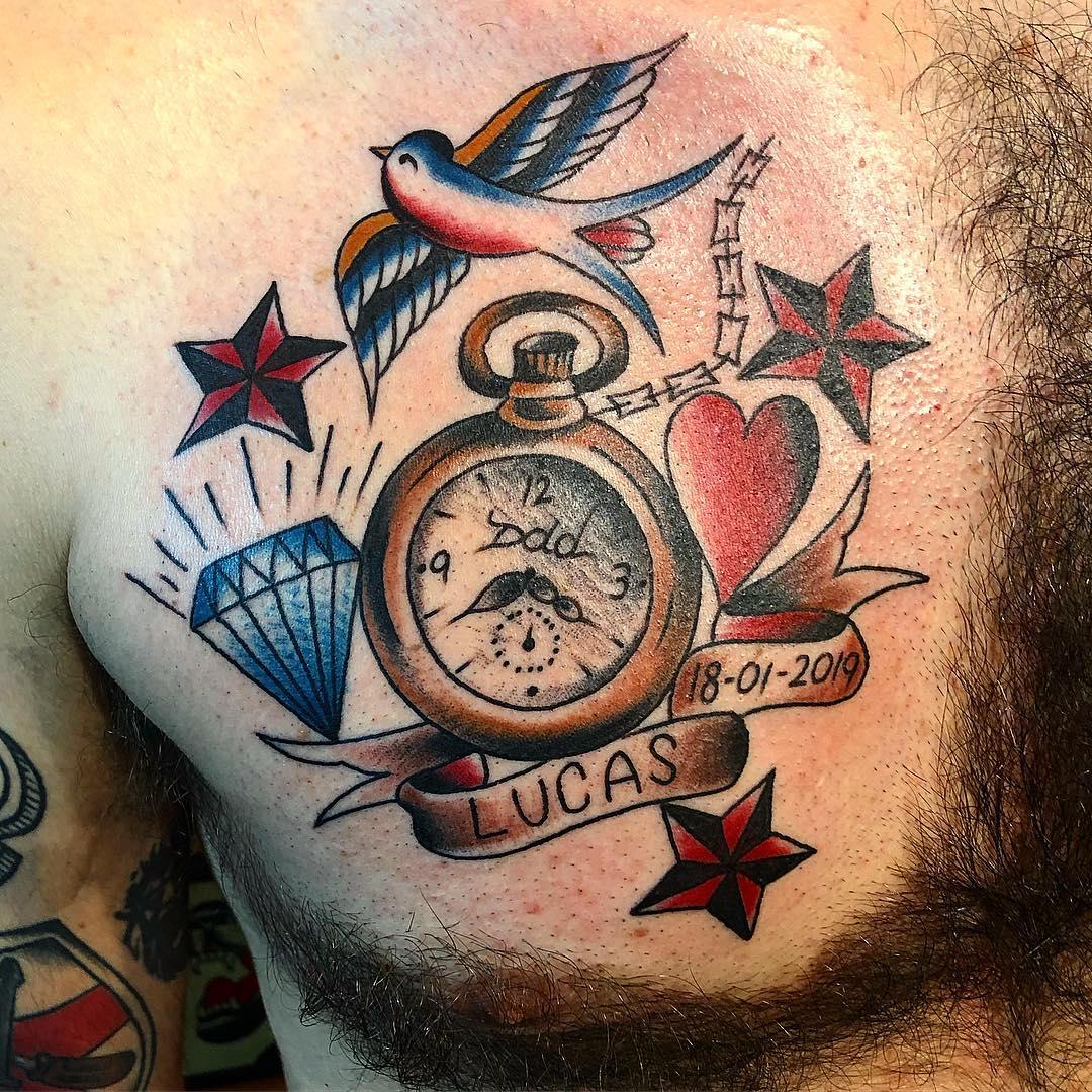 tattoo reloj