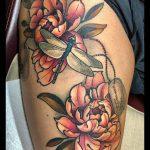 2020.08.08 Recent tattoo from @conan mcparland peonytattoo dragonflytattoo dogtagtatt