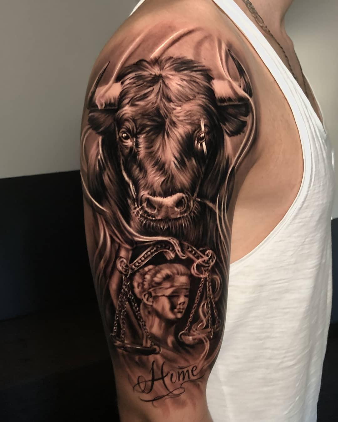 100 Imágenes Con Tatuajes de Toros Alucinantes