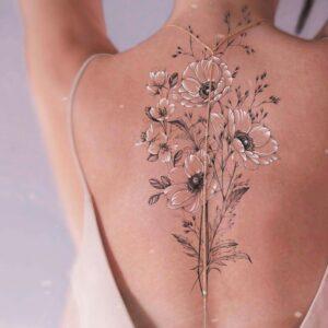 tatuajes de flor de manzano